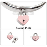 Mini Heart Padlock with Two Keys - Available Colors: Red, Pink, Blue and Black