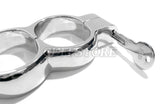 Irish-8 HandCuffs with Snap Shut Quick Release Hamburg Lock Nickel Plated KB-126-NP