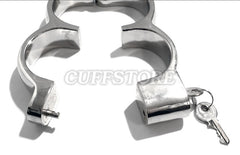 Nickle Plated High Security Irish-8 Snap Shut Handcuffs KB-131