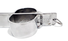 Stainless Steel Rigid Shrew's Fiddle Cangue Handcuff Neck Restraint KB-220