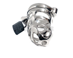 Male Chastity Cage Nickle Plated Device with Padlock and Key KB-260
