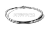 Curved Stainless Steel Bondage Collar with Single Ring Multiple Sizes Brushed or Polished Finish