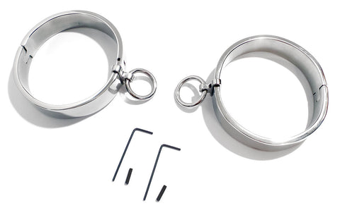 Oval Legirons High Quality Steel Bondage Legcuffs Leg Irons KB-896L