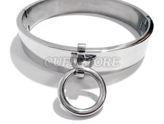 Locking Bondage Collar with Allen Drive Key & Removable Ring KB-896 Multiple Sizes