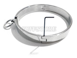 Locking Flat Stainless Steel Collar with Allen Drive Key & Removable Ring KB-896 Multiple Sizes