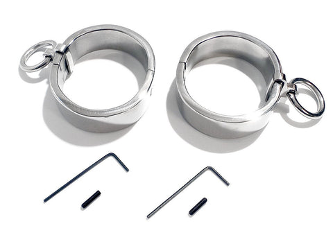 Flat Oval Handcuffs High Quality Stainless Steel Wrist Restraint Bondage KB-896H