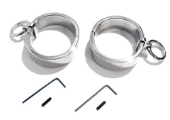 Flat Oval Handcuffs High Quality Stainless Steel Wrist Bondage KB-896H Multiple Sizes