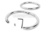 Stainless Steel Locking Elliptical Leg Irons with Allen Drive Key 898-EP