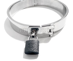 Locking Latch Choker Bondage Collar with Padlock KB-901 Multiple Sizes