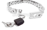 Locking Watch Band Link Collar with Padlock and Key KB-906