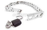 Two Position Locking Watch Band Collar with Padlock and Key KB-907