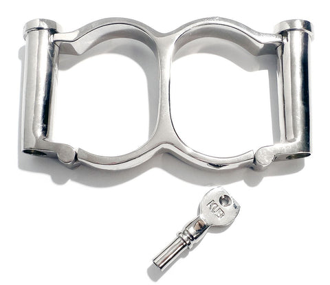 Double Cylinder Irish-8 Darby Legcuffs Leg Irons KB-922