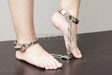 Non-Adjustable Hamburg-8 Leg Iron Ankle Restraint with Chain KB-928
