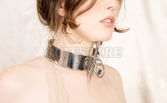 Adult Heavy Stainless Steel Posture Collar with Adjustable Head Raising Bar 2032-SS