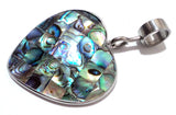 Abalone Shell Heart Pendant for 899 Collars and 2041 Wire Collars