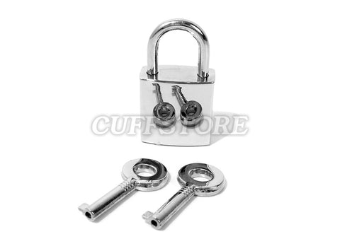 Silver Polished Padlock and Key