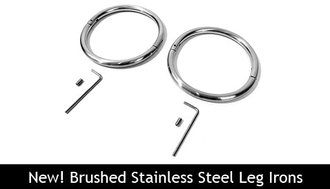 Brushed Stainless Steel Leg Irons