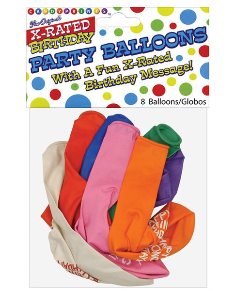 "11"" Happy Fucking Birthday Balloons - Bag Of 8, Fun & Games"