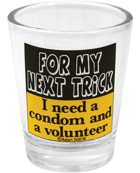 For My Next Trick Shot Glass, Fun & Games