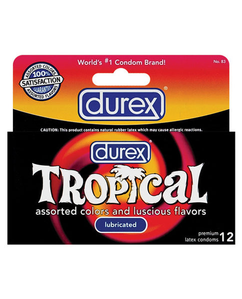 Durex Tropical Color & Scents Condoms  - Box Of 12, Essentials