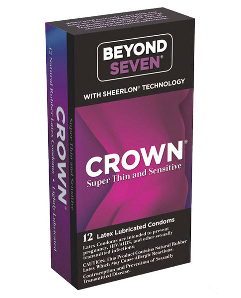 Crown Lubricated Condoms - Box Of 12, Essentials