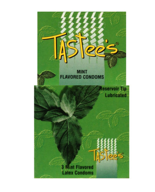 Tastees Condoms - Mint Box Of 3