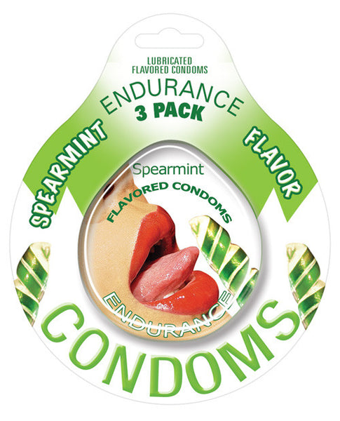 Endurance Flavored Condom - Spearmint Pack Of 3, Essentials