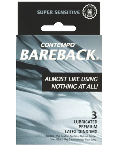 Contempo Bareback Condom - Box Of 3, Essentials