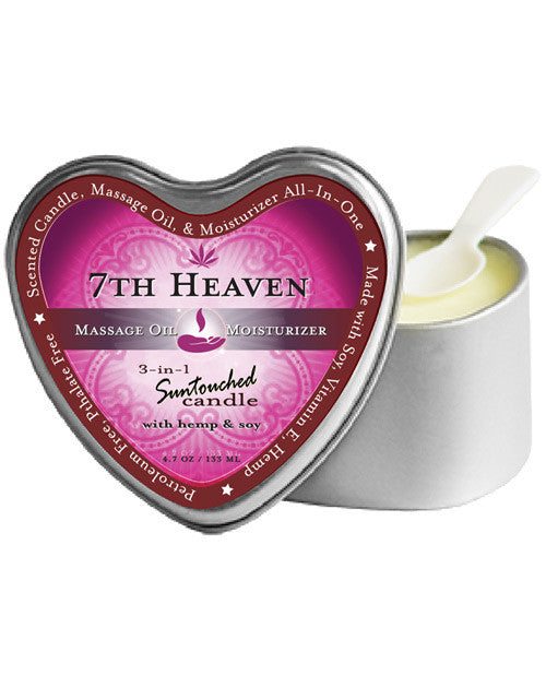 Earthly Body 3 In 1 Candle - 4.7 Oz Heart Tin 7th Heaven, Essentials