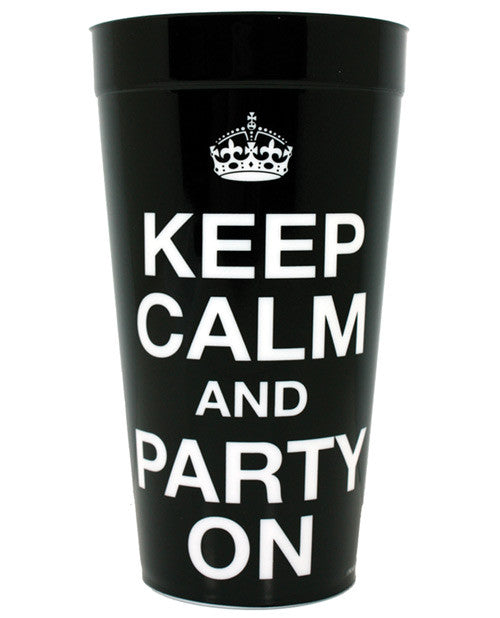 Keep Calm And Party On Plastic Cup, Fun & Games