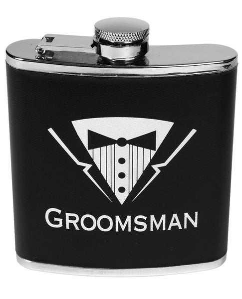 Bachelor Party Groomsman Flask, Fun & Games