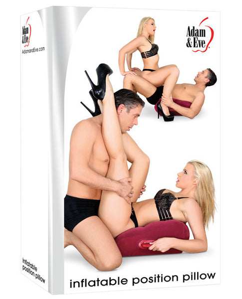 Adam & Eve Inflatable Position Pillow - Burgundy, Sex Toys