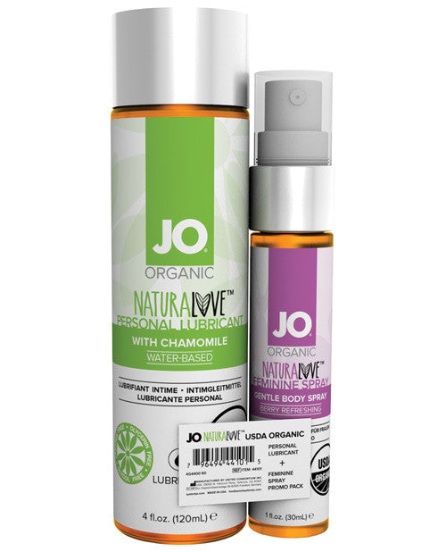System Jo Usda Organic Lube & Fem Spray Promo Pak - 4 Oz-1 Oz, Essentials