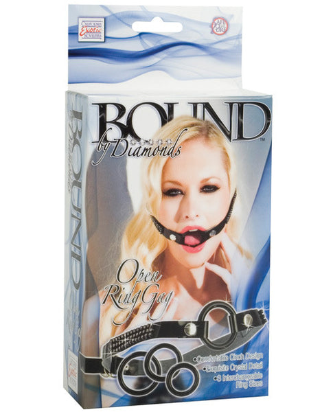 Bound By Diamonds Open Ring Gag, Bondage