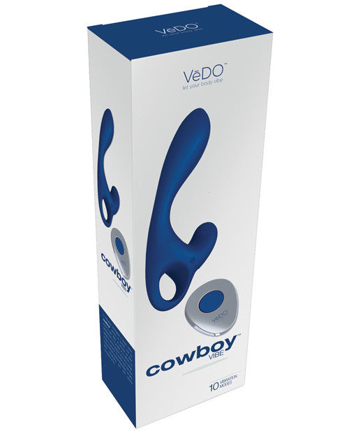 Vedo Cowboy Rechargeable Prostate Vibe - Midnight Madness