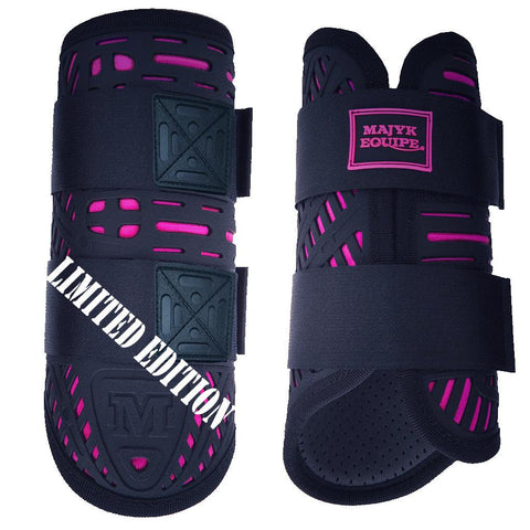 Hot Pink Special Limited Edition XC Elite Boot Set (Fronts and Hinds) PLUS!! Free stirrups automatically ship with every set