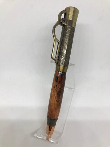 Antique Brass Lever Action Pen