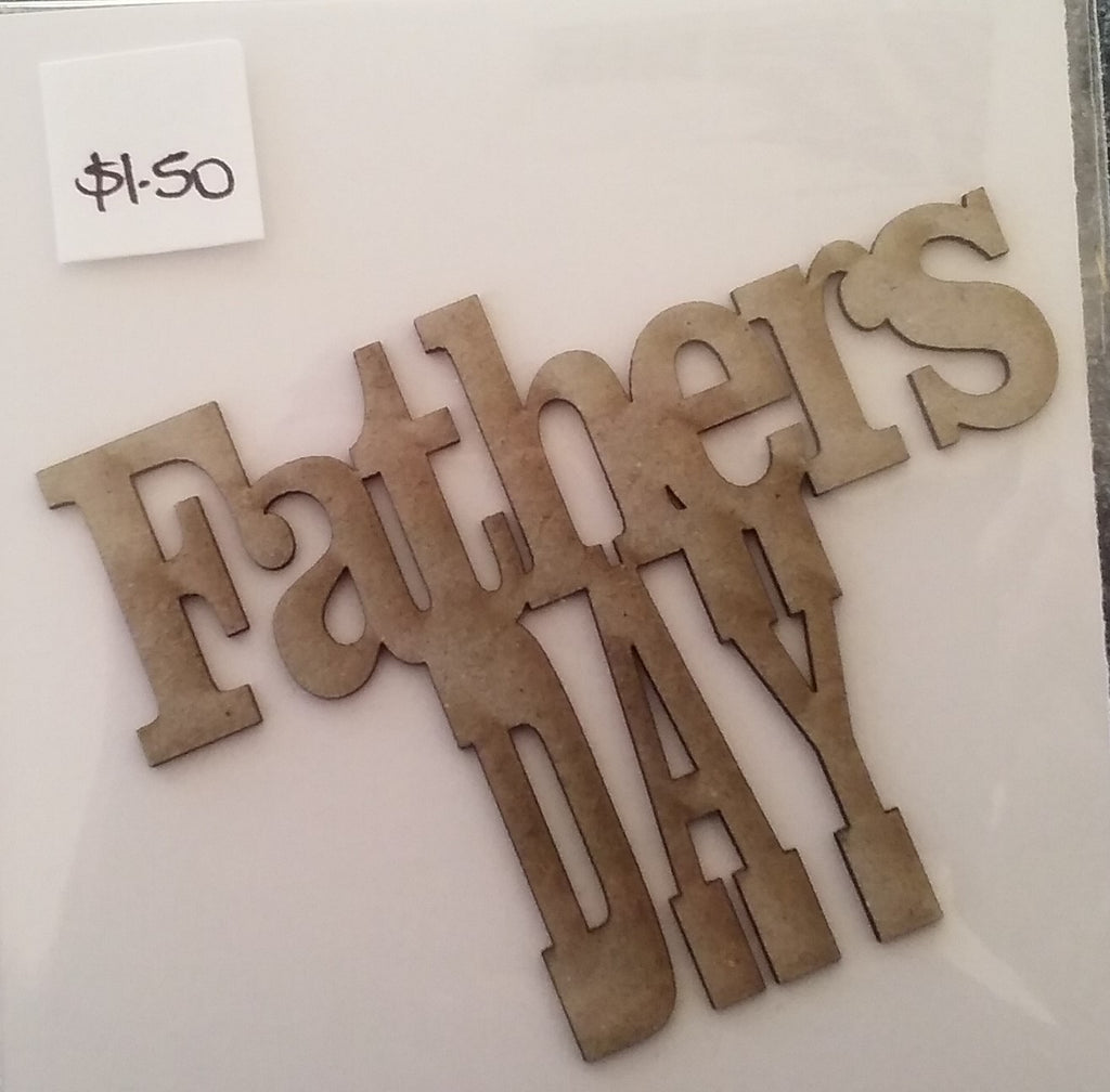 Corbett Creations 'Father's Day' chipboard word
