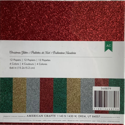 AC Christmas glitter 6x6 pack pack