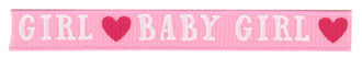 AC baby girl ribbon 9.5mm x 1.5m