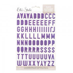 Elle's Studio purple puffy alphabet stickers