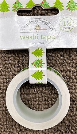 Doodlebug 'wee trees' washi tape 12 yards (slightly transparent)