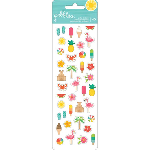 Pebbles Sunshiny days puffy stickers