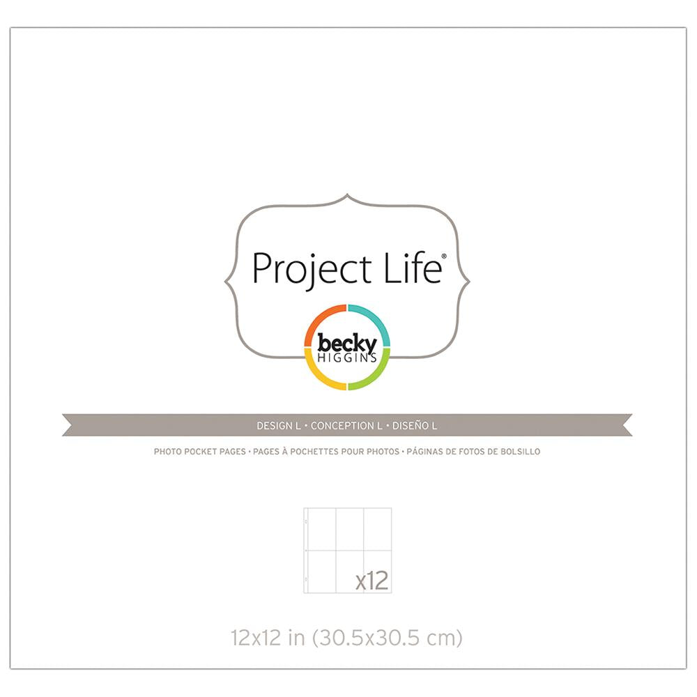 Project Life design L pocket pages