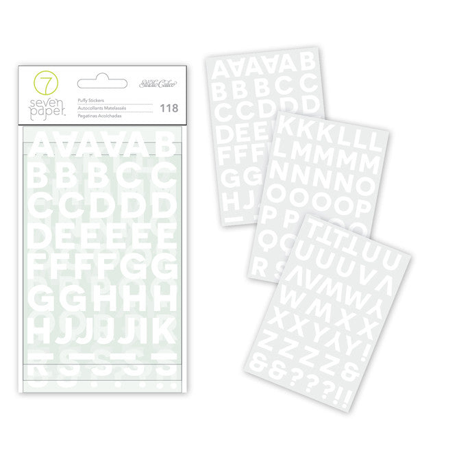 Studio Calico 7 paper white puffy alphabet stickers