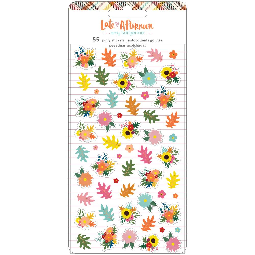 Amy Tan 'Late afternoon' mini puffy floral stickers