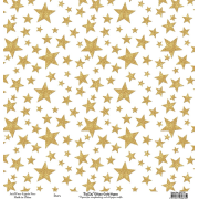 Bella 'Glitzy gold paper' stars single sided pp