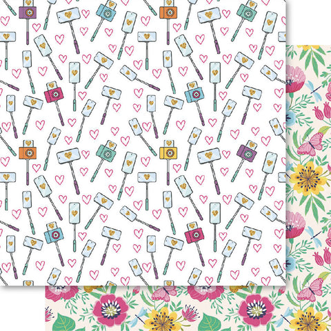 Bella Selfie Queen 'click' ds patterned papers