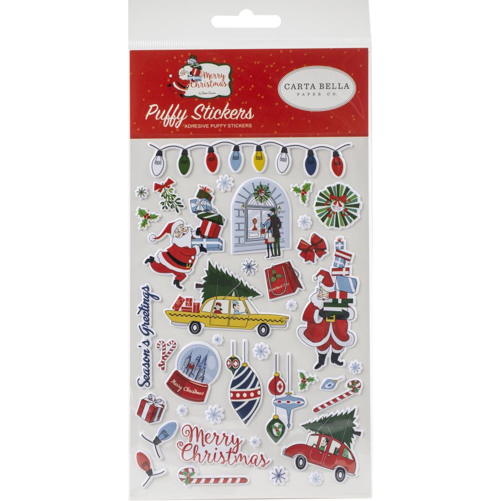 Carta Bella 'Merry Christmas' puffy stickers