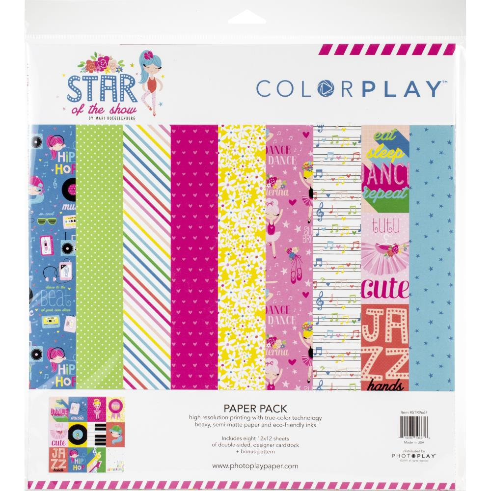 Colorplay Star of the show paper pack 8x sheets of ds pp